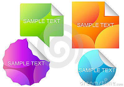 Vector-set-of-different-colorful-stickers