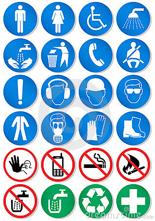 Vector set of different communication signs.
