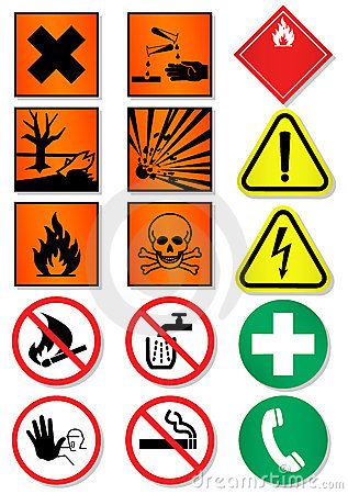 Vector set of different international signs.
