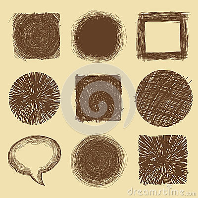 Vector set with doodle backgrounds and frames