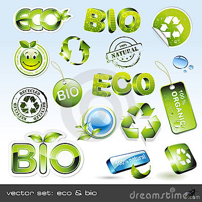 Free Vector Set: Eco & Bio Royalty Free Stock Images - 9905979