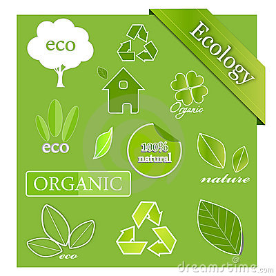 Vector set of ecological icons