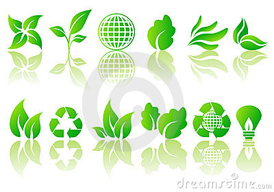 Vector set of ecological symbols