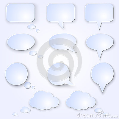 Vector Set of Empty Speech Bubbles