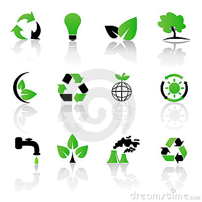 Vector Set Of Environmental / Recycling Icons Royalty Free Stock Photos - Image: 13402028