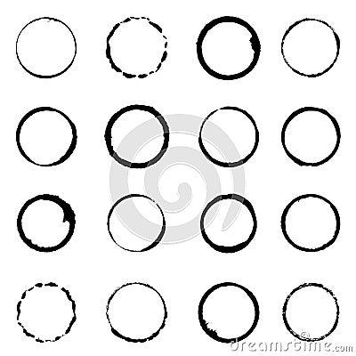 Free Vector Set Grunge Circle Brush Strokes Stock Photo - 32563740