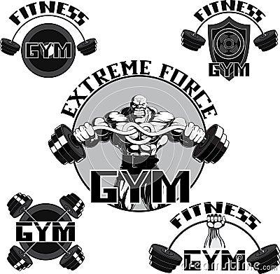 Free Vector Set: Gym Stock Photos - 37424343