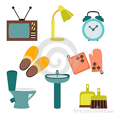 Household Items Collection Stock Images - Image: 2286044