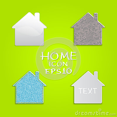 Vector set of houses.