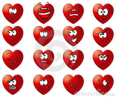 Vector Set icon of hearts