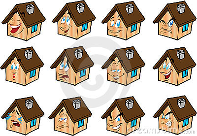 Vector Set Illustrations  House Royalty Free Stock Photo - Image: 20474815