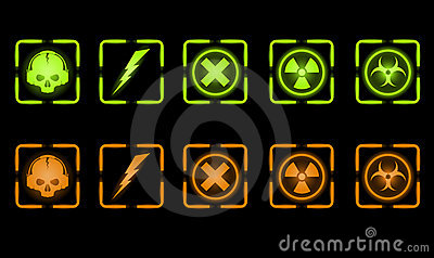 Vector set of industrial icons
