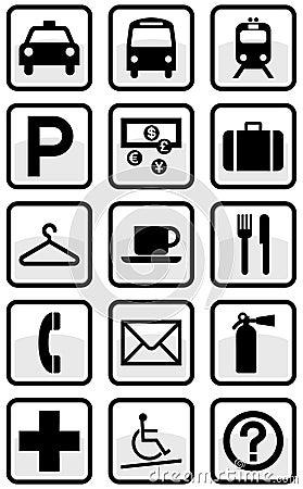 Vector set of international service signs.