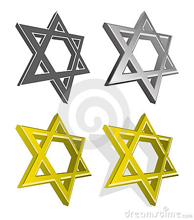 Vector set of Jewish stars
