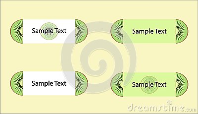 Vector set of kiwi labels