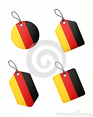 Vector set of labels with germany flag