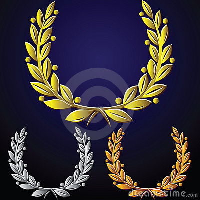vector Set of laurel wreaths