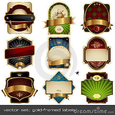 Vector set: luxurious labels