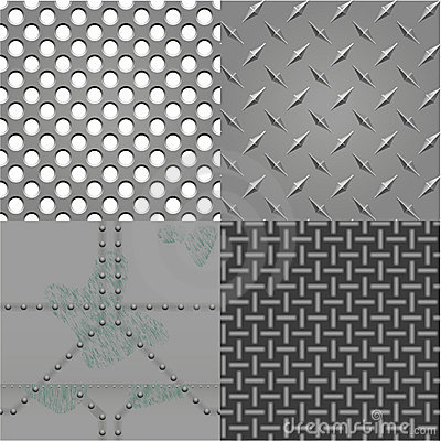 Vector set of metal textures