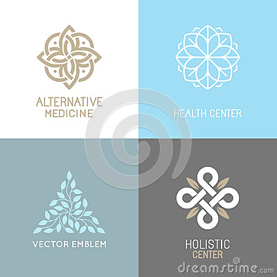 Free Vector Set Of Abstract Logos Royalty Free Stock Photography - 65362537