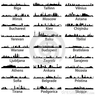 Free Vector Set Of Ceast European Cities Stock Photo - 56528230