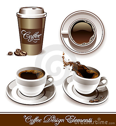 Free Vector Set Of Coffee Cups Stock Photo - 21896430
