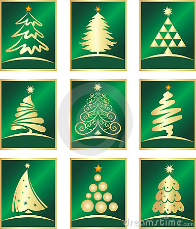 Free Vector Set Of Firs Royalty Free Stock Images - 6824159