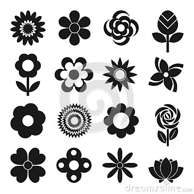 Free Vector Set Of Flowers Stock Image - 57479541