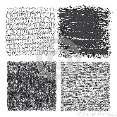 Free Vector Set Of Hand Drawn Squares. Sketch, Set Of Textures. Eleme Royalty Free Stock Photo - 54907955