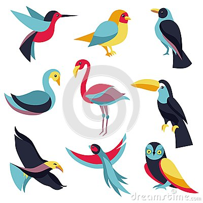 Free Vector Set Of Logo Design Elements - Birds Signs Stock Images - 32503014
