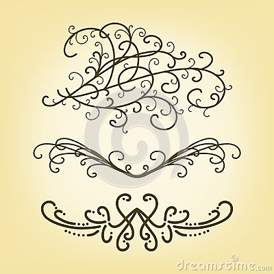 Free Vector Set Of Pretty Border Or Underline Design Elements Or Paragraph Text Dividers  Royalty Free Stock Photography - 98177357