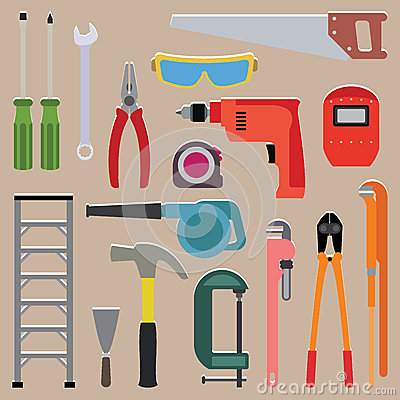 Free Vector Set Of Tools Instrument Stock Images - 41367454
