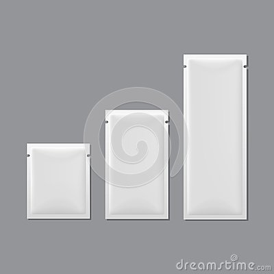 Free Vector Set Of White Blank Sachet Packaging Royalty Free Stock Photo - 33951325