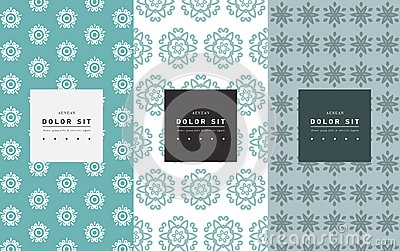 Vector set of packaging design templates, linear patterns Vector Illustration