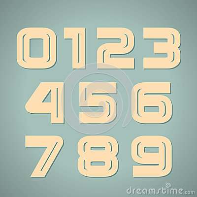 Vector set retro numbers