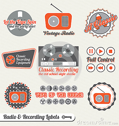 Vector Set: Retro Recording Labels and Stickers
