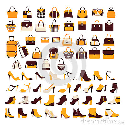 Free Vector Set Silhouette Collection Of Fashion Accessories Stock Photography - 50972202