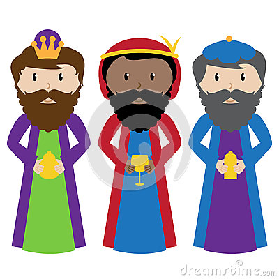 Vector Set of Three Wise Men or Magi