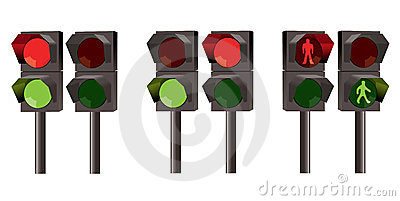vector set of traffic lights