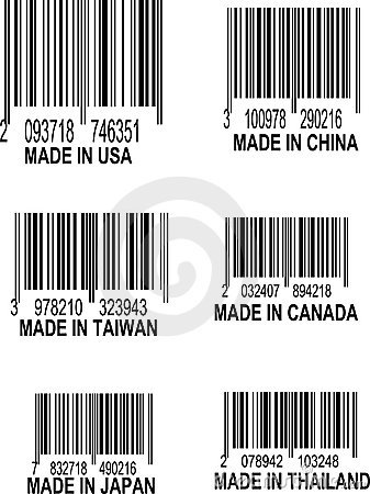 Vector Set of UPC Bar codes