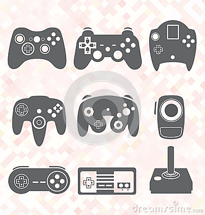 Free Vector Set: Video Game Controller Silhouettes Stock Photography - 35137752