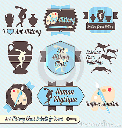 Vector Set: Vintage Art History Class Labels