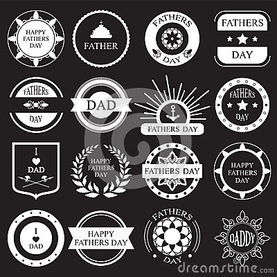 Free Vector Set:vintage Fathers Day Labels And Icons Royalty Free Stock Image - 54295476