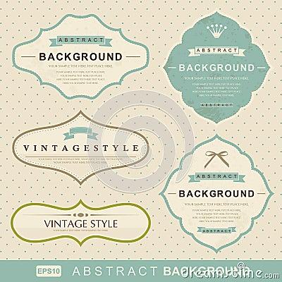 Vector set: vintage labels