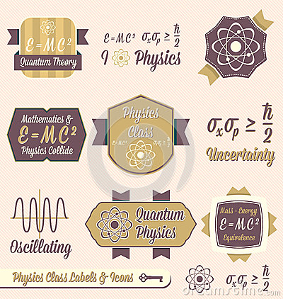 Vector Set: Vintage Physics Class Labels