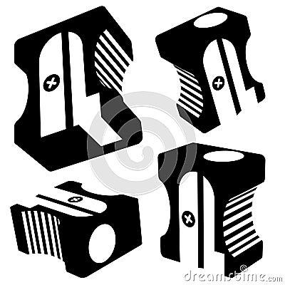 Vector sharpener silhouettes