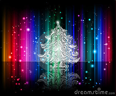 Vector shiny christmas background