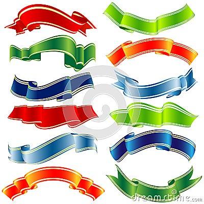 Vector shiny ribbons