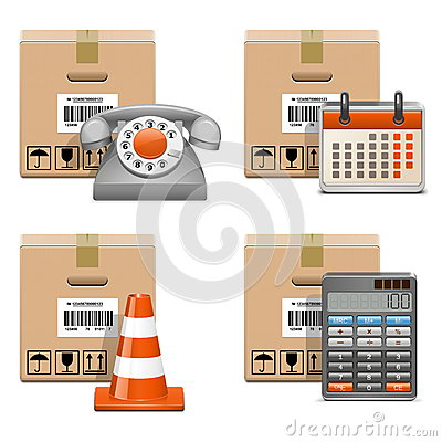 Vector Shipment Icons Set 13