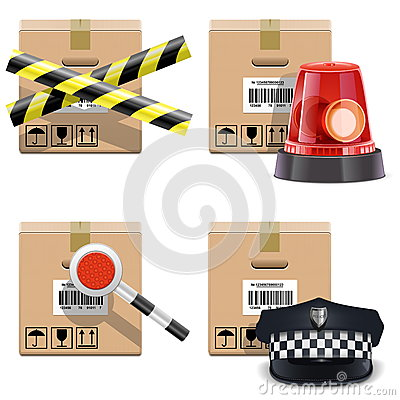 Vector Shipment Icons Set 25